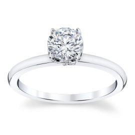 Kirk Kara 14k White Gold Diamond Engagement Ring Setting .02 ct. tw.