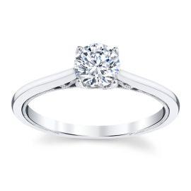 Kirk Kara 14k White Gold Engagement Ring Setting