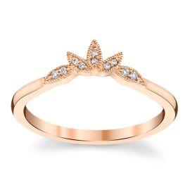 Kirk Kara 14k Rose Gold Diamond Wedding Band .03 ct. tw.