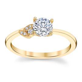 Kirk Kara 14k Yellow Gold Diamond Engagement Ring Setting .04 ct. tw.