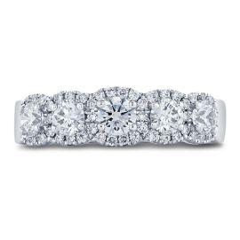 Henri Daussi 14k White Gold Diamond Wedding Band 1 ct. tw.