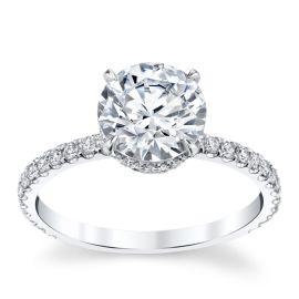 Michael M. 18k White Gold Diamond Engagement Ring Setting 3/8 ct. tw.