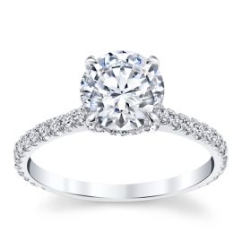 Michael M. 18k White Gold Diamond Engagement Ring Setting 1/3 ct. tw.