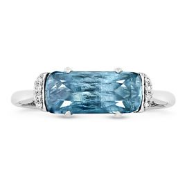 Tacori Jewelry Sterling Silver London Blue Topaz Fashion Ring .03 ct. tw.