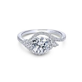 Gabriel & Co. 14k White Gold Diamond Engagement Ring Setting 3/8 ct. tw.