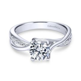 Gabriel & Co. 14k White Gold Diamond Engagement Ring Setting 1/7 ct. tw.
