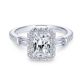 Gabriel & Co. 14k White Gold Diamond Engagement Ring Setting 1/2 ct. tw.