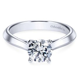 Gabriel & Co. 14k White Gold Engagement Ring Setting ct. tw.