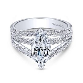 Gabriel & Co. 14k White Gold Diamond Engagement Ring Setting 3/4 ct. tw.
