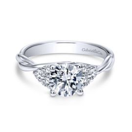 Gabriel & Co. 14k White Gold Diamond Engagement Ring Setting 1/4 ct. tw.