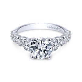 Gabriel & Co. 14k White Gold Diamond Engagement Ring Setting 1 ct. tw.
