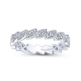 Gabriel & Co. 14k White Gold Diamond Wedding Band 1/6 ct. tw.