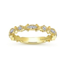 Gabriel & Co. 14k Yellow Gold Diamond Wedding Band 1/8 ct. tw.