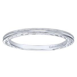 Gabriel & Co. 14k White Gold 1.7 mm Wedding Band