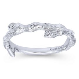 Gabriel & Co. 14k White Gold Diamond Wedding Band .06 ct. tw.