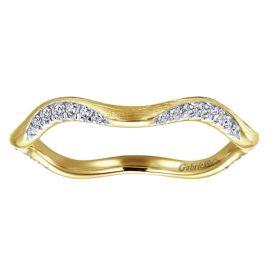 Gabriel & Co. 14k Yellow Gold Diamond Wedding Band 1/7 ct. tw.