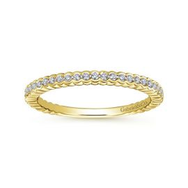 Gabriel & Co. 14k Yellow Gold Diamond Wedding Band 1/7 ct. tw.