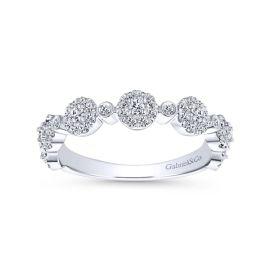 Gabriel & Co. 14k White Gold Diamond Wedding Band 3/8 ct. tw.