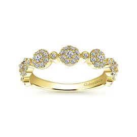 Gabriel & Co. 14k Yellow Gold Diamond Wedding Band 3/8 ct. tw.