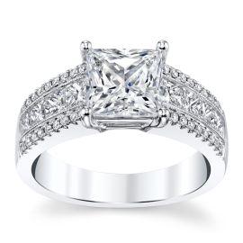 Divine 18k White Gold Diamond Engagement Ring Setting 7/8 ct. tw.