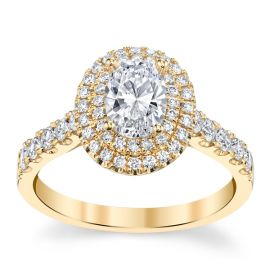 Divine 18k Yellow Gold Diamond Engagement Ring Setting 5/8 ct. tw.
