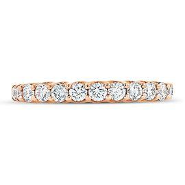 Divine 18k Rose Gold Diamond Wedding Band 1/2 ct. tw.