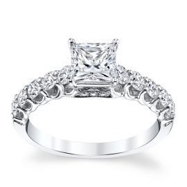 Divine 18k White Gold Diamond Engagement Ring Setting 5/8 ct. tw.