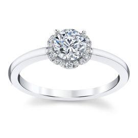 Kirk Kara 14k White Gold Diamond Engagement Ring Setting 1/10 ct. tw.