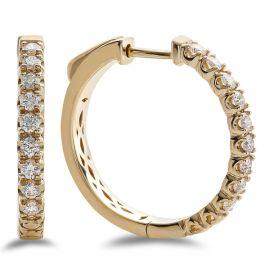 14k Yellow Gold Earrings 5/8 ct. tw.