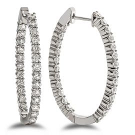 14k White Gold Earrings 2 ct. tw.