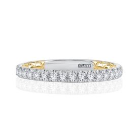 A. Jaffe 14k White Gold and 14k Yellow Gold Diamond Wedding Band 1/2 ct. tw.