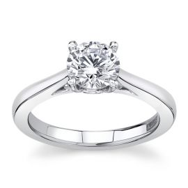A. Jaffe 14Kt White Gold Engagement Ring Setting  cttw