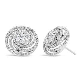 14k White Gold Earrings 3/4 ct. tw.