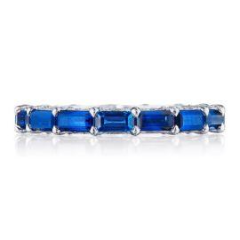 Tacori 18k White Gold Blue Sapphire Diamond Wedding Band 1/4 ct. tw.