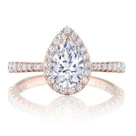 Tacori 18k Rose Gold Diamond Engagement Ring Setting 1/2 ct. tw.