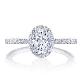 Tacori Platinum Diamond Engagement Ring Setting 3/8 ct. tw.