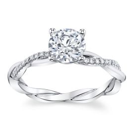 Coast Diamond 14k White Gold Diamond Engagement Ring Setting .08 ct. tw.