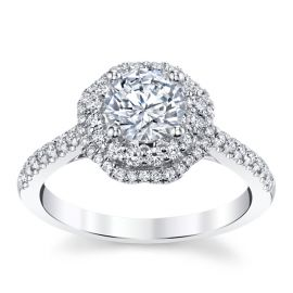 Coast Diamond 14k White Gold Diamond Engagement Ring Setting 3/8 ct. tw.