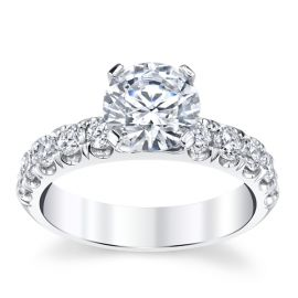 Coast Diamond 14k White Gold Diamond Engagement Ring Setting 3/4 ct. tw.