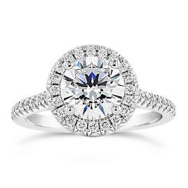 Henri Daussi Platinum Diamond Engagement Ring Setting 1/3 ct. tw.