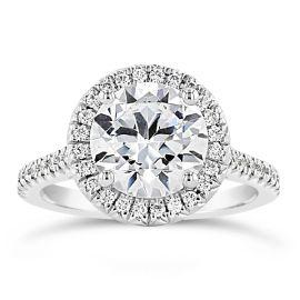 Henri Daussi 14k White Gold Diamond Engagement Ring Setting 1/3 ct. tw.