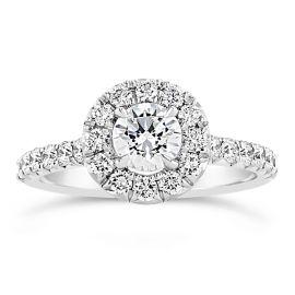 Henri Daussi 18k White Gold Diamond Engagement Ring Setting 3/4 ct. tw.