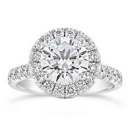 Henri Daussi 14k White Gold Diamond Engagement Ring Setting 3/4 ct. tw.