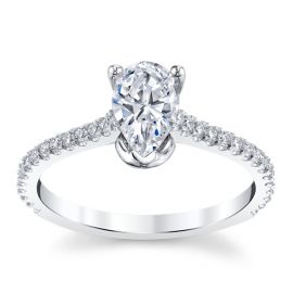 Suns and Roses 14k White Gold Diamond Engagement Ring Setting 1/4 ct. tw.