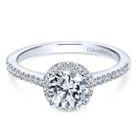 Gabriel & Co. 14k White Gold Diamond Engagement Ring Setting 1/5 ct. tw.