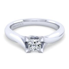 Gabriel & Co. 14k White Gold Engagement Ring Setting