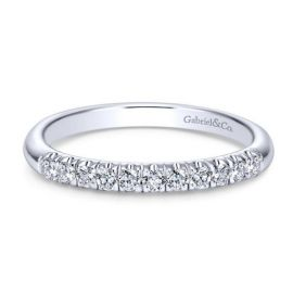 Gabriel & Co. 14k White Gold Diamond Wedding Band 1/5 ctw