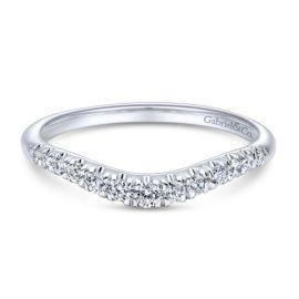 Gabriel & Co. 14k White Gold Diamond Wedding Band 1/4 ctw