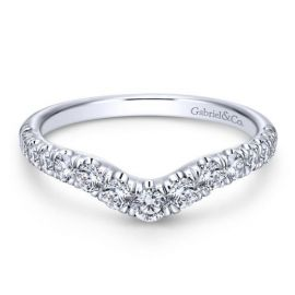 Gabriel & Co. 14k White Gold Diamond Wedding Band 1/2 ct. tw.