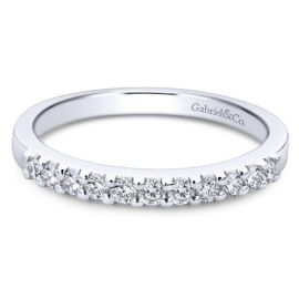Gabriel & Co. 14k White Gold Diamond Wedding Band 1/4 ct. tw.